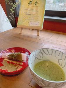 出雲産のお抹茶と和菓子
